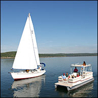 At 45,440 acres, Bull Shoals Lake in Arkansas  is one of the largest lakes in Arkansas with over 740 miles of shoreline for weeks of enjoyment camping, fishing, boating and diving.